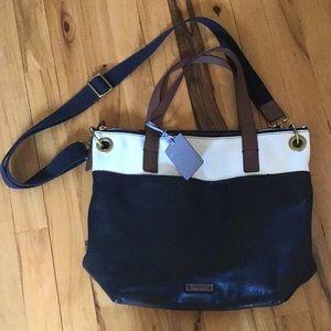 Fossil Large Leather Handbag  EUC